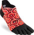 Injinji Spectrum Run Lightweight No Show Socks Men, punainen/musta