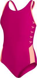 speedo Boom Logo Splice Muscleback Swimsuit Girls, vaaleanpunainen, Uintitarvikkeet