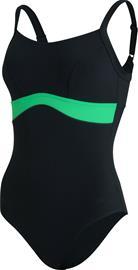 speedo Salacia Clipback Shaping Swimsuit Women, musta, Uintitarvikkeet