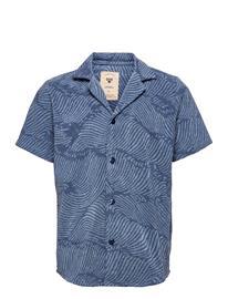 OAS Wavy Terry Shirt Lyhythihainen Paita Sininen OAS BLUE