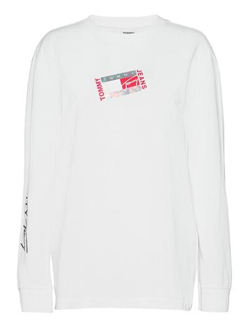 Tommy Jeans Tjm Small Flag Box Logo Tee T-shirts Long-sleeved Valkoinen Tommy Jeans WHITE