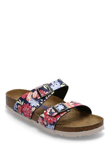 Birkenstock Sydney Soft Footbed Shoes Summer Shoes Flat Sandals Monivärinen/Kuvioitu Birkenstock SUPERNATURAL FLOWER NAVY
