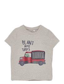 name it Nmmdarson Ss Top Box T-shirts Short-sleeved Harmaa Name It GREY MELANGE