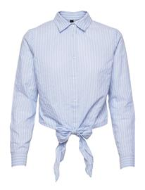 YAS Yasstrilla Ls Shirt - Icon S. Pitkähihainen Paita Sininen YAS CASHMERE BLUE