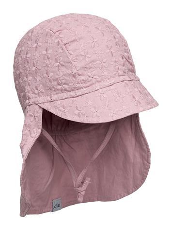 mp Denmark Flora Cap With Neck Shade Accessories Headwear Sun Hats Vaaleanpunainen Mp Denmark ROSE