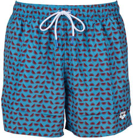 arena Fundmentals Allover Shorts Men, punainen/sininen