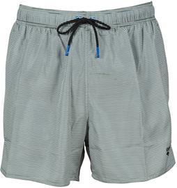 arena Fundmentals Allover Shorts Men, vihreä/valkoinen