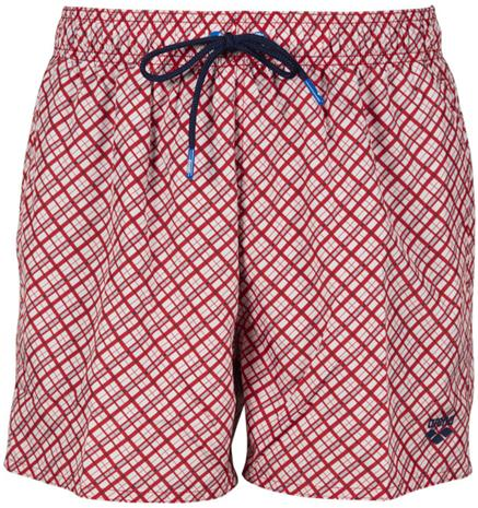 arena Fundmentals Allover Shorts Men, punainen/valkoinen