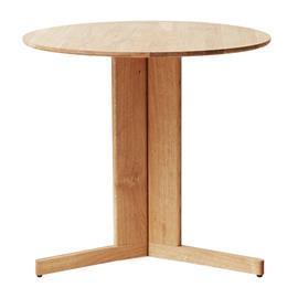 Form & Refine Trefoil pöytä, 75 cm, vaalea tammi