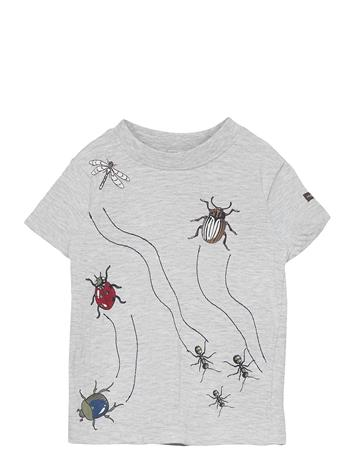 Hust & Claire Arthur - T-Shirt T-shirts Short-sleeved Harmaa Hust & Claire PEARL GREY MELANGE