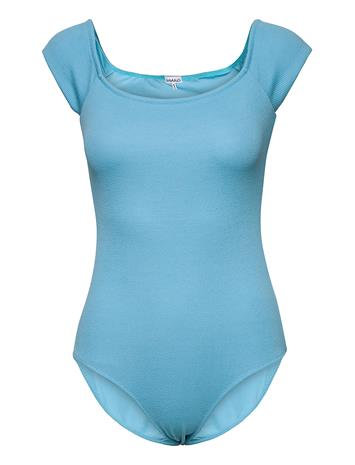 Ganni Recycled Textured Uimapuku Uima-asut Sininen Ganni BACHELOR BLUE