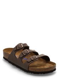 Birkenstock Florida Soft Footbed Shoes Summer Shoes Flat Sandals Ruskea Birkenstock MOCCA