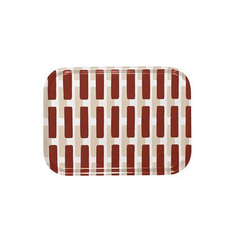 Artek Siena tarjotin, 27 x 20 cm, tiilenpunainen - hiekanruskea