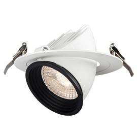 Hide-a-Lite Focus Point Maxi Downlight-valaisin 24°, 3000K Push 230V, DALI-liitäntälaitteella