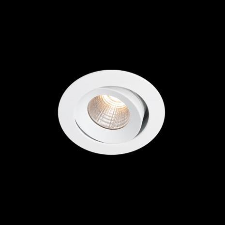 Hide-a-Lite Optic XS Downlight-valaisin valkoinen, kallistettava 3000K