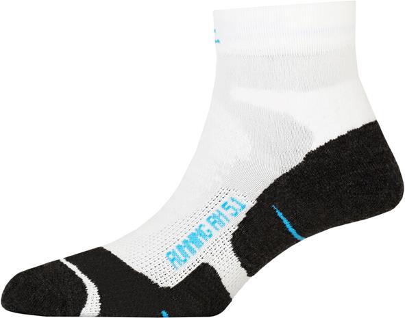 P.A.C. RN 5.1 Running Pro Short Socks Women, valkoinen/musta