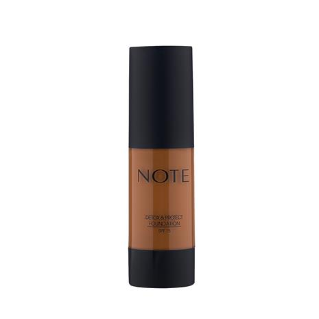 Note Cosmetics Detox and Protect Foundation 35ml (Various Shades) - 118 Walnut