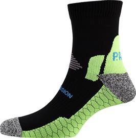 P.A.C. RN 6.0 Running Pro Mid Compression Socks Men, vihreä/musta