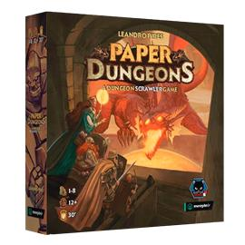 Paper Dungeons: A Dungeon Scrawler Game Lautapeli