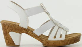 Rieker Sandaalit 69702-80 valkoinen, Naisten kengät
