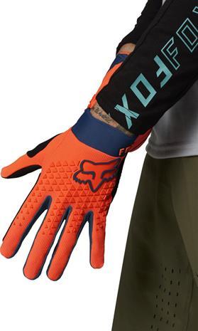 Fox Defend Gloves Men, oranssi, Urheiluasusteet