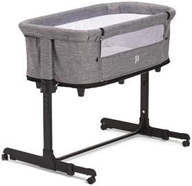 JLY Future 2in1 Bedside Crib, Tummanharmaa