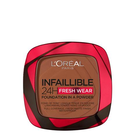 L'Oréal Paris Infallible 24 Hour Fresh Wear Foundation Powder 9g (Various Shades) - 375 Deep Amber