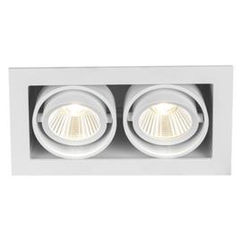 Hide-a-Lite Optic Box II Downlight-valaisin valkoinen 2700K, 1050 lm