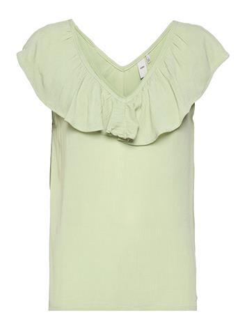 ICHI Ihmarrakech So To3 Blouses Short-sleeved Vihreä ICHI SWAMP