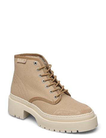 Shoe The Bear Stb-Bea Recycled T Shoes Boots Ankle Boots Ankle Boot - Flat Beige Shoe The Bear SAND, Naisten kengät
