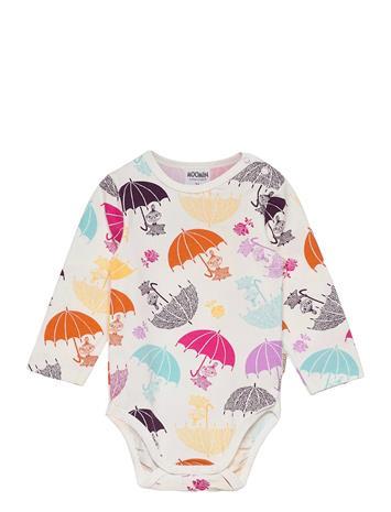 Mumin Umbrellas Body Bodies Long-sleeved Monivärinen/Kuvioitu Mumin WHITE, Lastenvaatteet