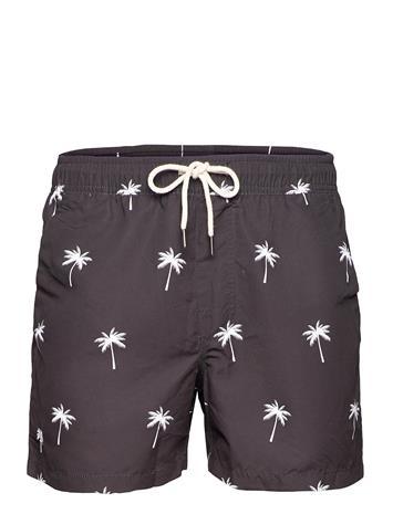 OAS Black Palm Swim Shorts Uimashortsit Ruskea OAS BLACK