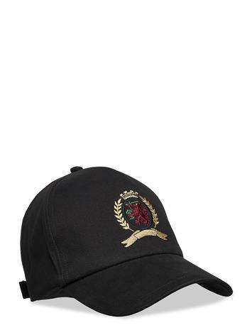 Tommy Hilfiger Hcm Classic Crest Cap Accessories Headwear Caps Musta Tommy Hilfiger BLACK