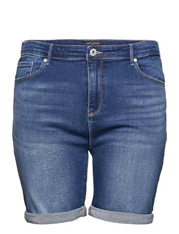 ONLY Carmakoma Carlaola Life Hw Shorts Bb Azg570 Shorts Denim Shorts Sininen ONLY Carmakoma MEDIUM BLUE DENIM
