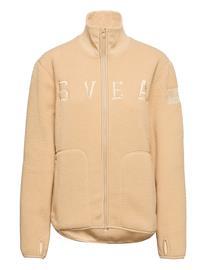 Svea W. Pile Turtle Zip Sweat Sweat-shirts & Hoodies Fleeces & Midlayers Vaaleanpunainen Svea SAND