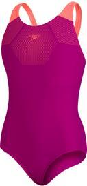 speedo Tech Placement Muscleback Swimsuit Girls, vaaleanpunainen, Uintitarvikkeet