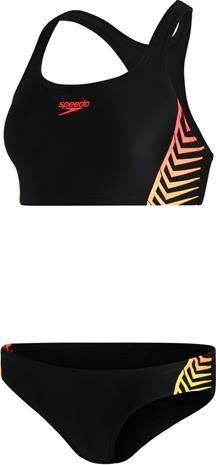 speedo Placement Bikini Women, musta, Uintitarvikkeet