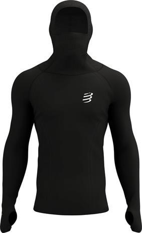 Compressport 3D Ultralight Racing Thermo Hoodie, musta, Miesten takit, paidat ja muut yläosat