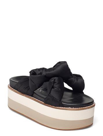 Ganni Recycled Satin Korolliset Sandaalit Musta Ganni BLACK