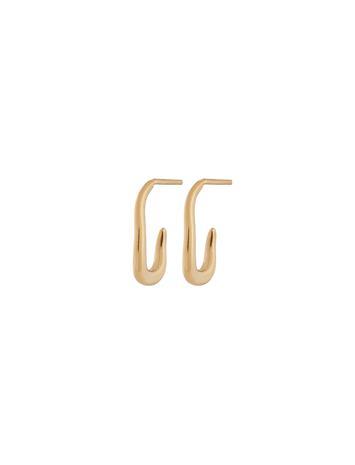 Edblad Tokiwa Creole S Gold Accessories Jewellery Earrings Studs Kulta Edblad GOLD