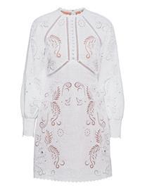 Michael Kors Long Slv Emb Mini Dress Dresses Party Dresses Valkoinen Michael Kors WHITE