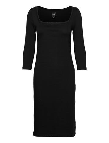GAP Modern Squareneck Dress Dresses Everyday Dresses Musta GAP TRUE BLACK