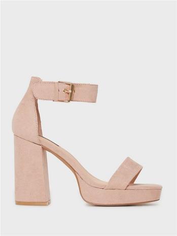 Only Shoes Onlaerin-5 Life Mf Cap Heeled Sanda Nude