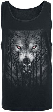 Spiral - Forest Wolf - Tank-toppi - Miehet - Musta