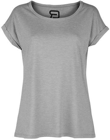 RED by EMP - Naisten extended shoulder T-paita - T-paita - Naiset - Sävytetty harmaa