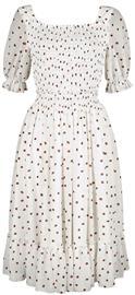 Voodoo Vixen - Zaria Flare Dress - Keskipitkä mekko - Naiset - Valkoinen