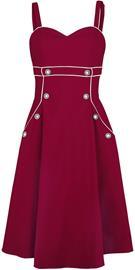 Voodoo Vixen - Claudia Red Seaside Dress - Keskipitkä mekko - Naiset - Punainen