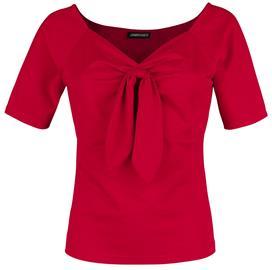 Voodoo Vixen - Knit Pullover Top - T-paita - Naiset - Punainen