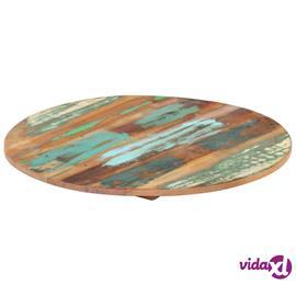 vidaXL Pyöreä pöytälevy 40 cm 15-16 mm täysi kierrätetty puu