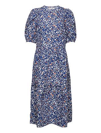 InWear Harukaiw Dress Dresses Everyday Dresses Sininen InWear DOTTED FLOWERS